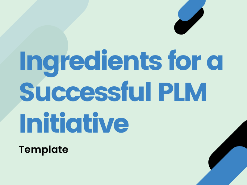 Ingredients for Successful PLM Initiative template