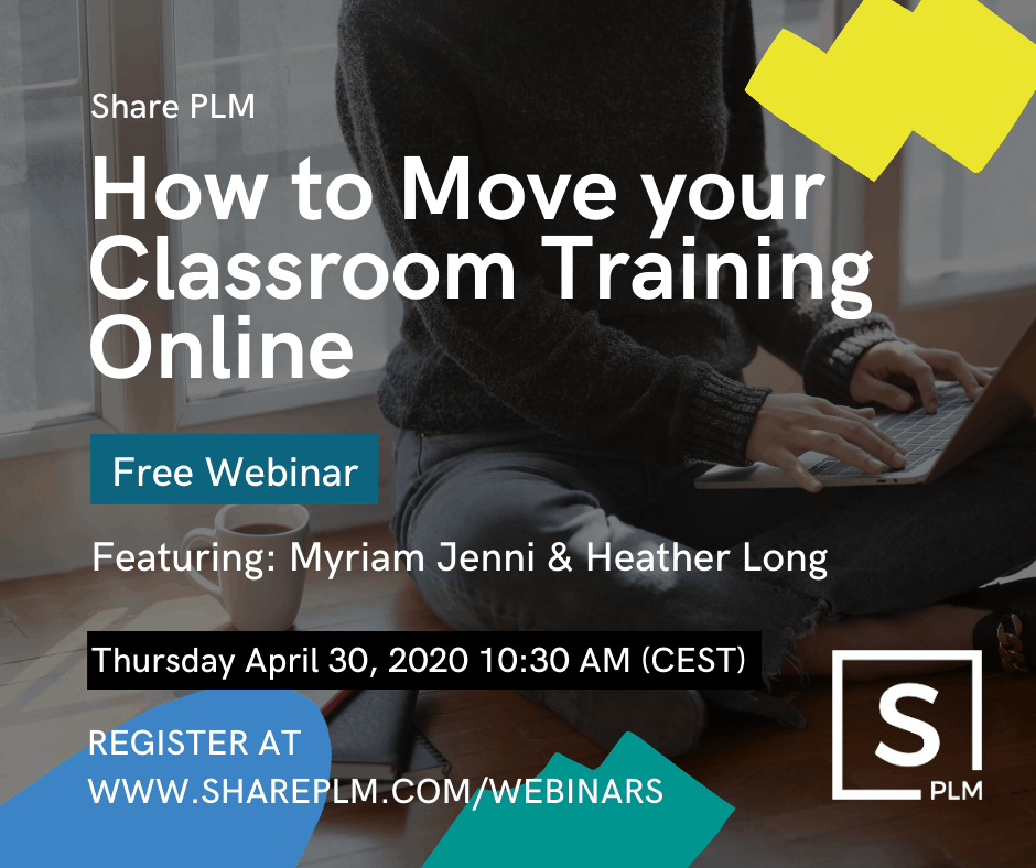 Share PLM webinar how to move your classroom training online