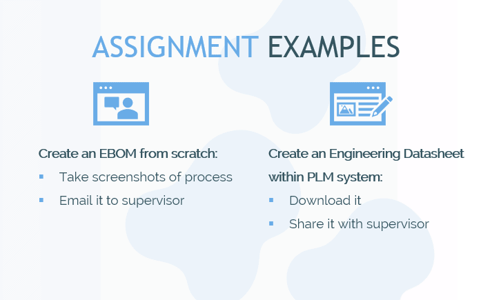 plm online training onboarding assignment examples