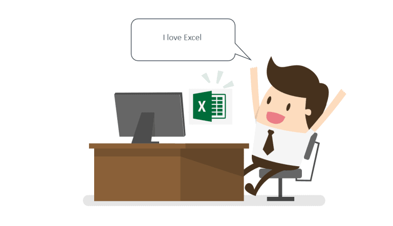 Man saying that he loves Excel