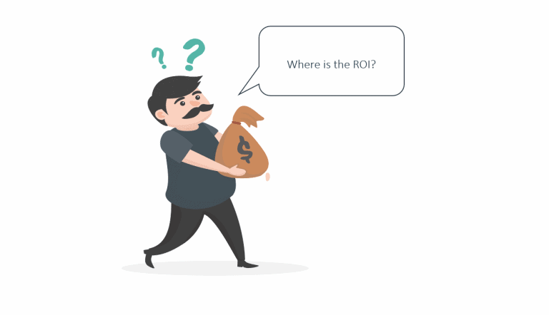 Man asking where the PLM ROI is