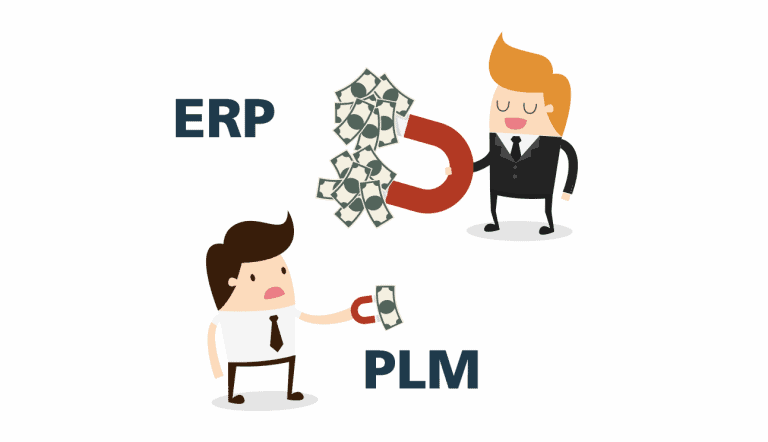 Magnet attracting money to ERP not to PLM