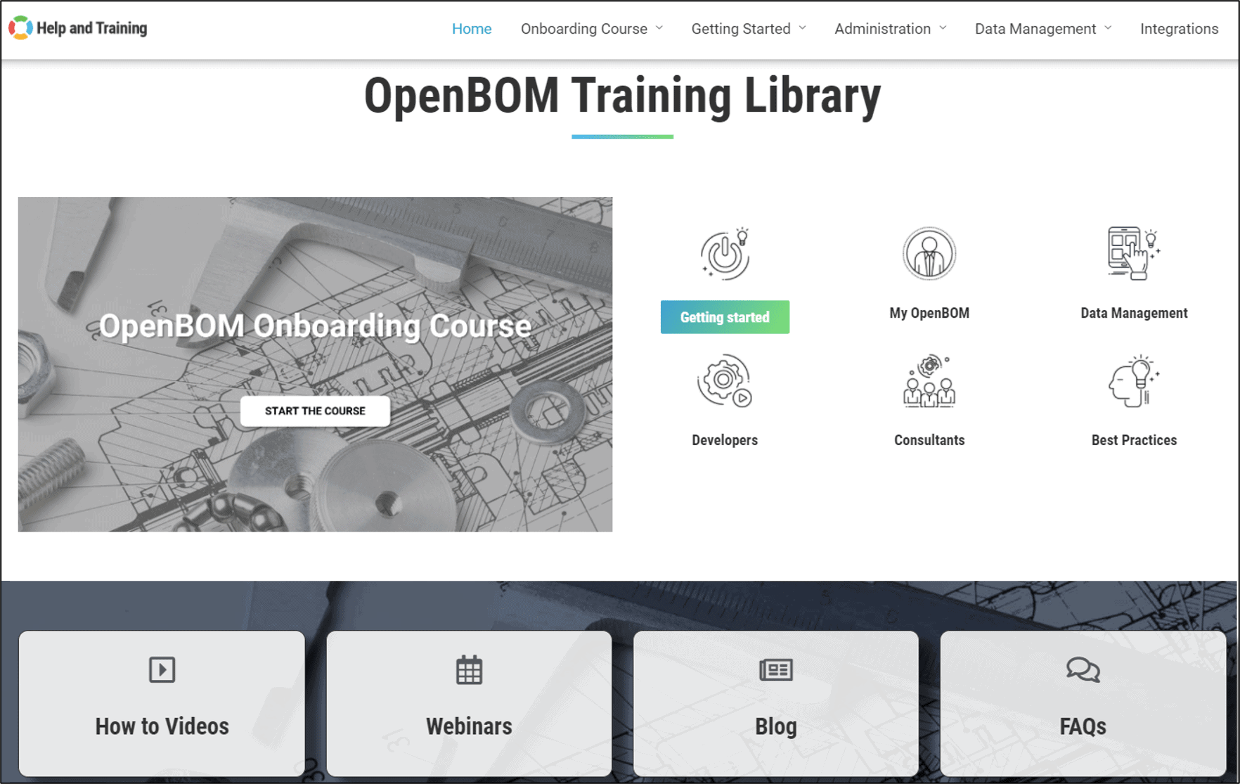 OpenBOM Training Library